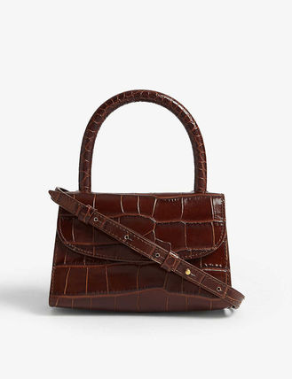 Casual Style Crocodile 2WAY Plain Leather Party Style