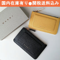 MARNI Leather Logo Coin Cases