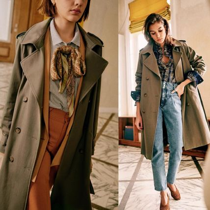 SEZANE Casual Style Long Party Style Office Style Elegant Style