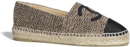 CHANEL ICON Platform Tweed Logo Espadrille Shoes
