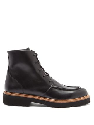 Platform Casual Style Leather Party Style Office Style