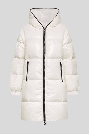 Nylon Plain Medium Long Nylon Jacket  Down Jackets
