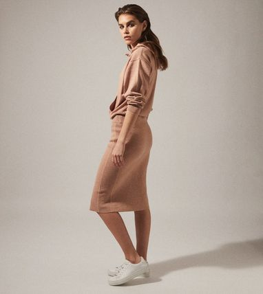Short Casual Style Long Sleeves Plain Dresses