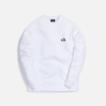 KITH NYC Long Sleeve Crew Neck Pullovers Unisex Street Style Long Sleeves Plain 3