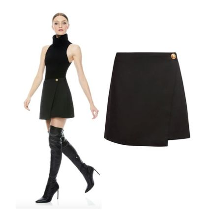 Short Casual Style Wool Nylon Blended Fabrics Party Style