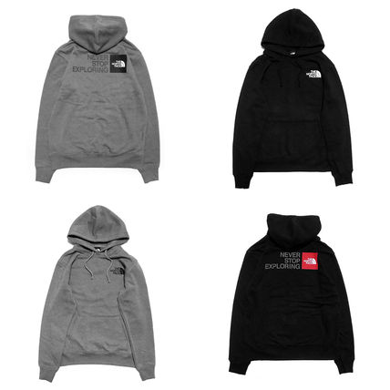 THE NORTH FACE Hoodies Pullovers Unisex Sweat Long Sleeves Plain Logo Outdoor