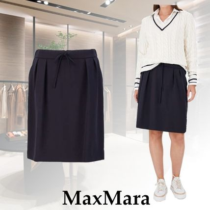 MaxMara Pure Wool Gabardine Skirt