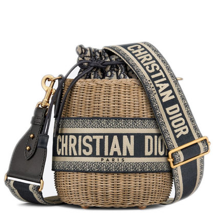 Christian Dior DIOR OBLIQUE Dior Wicker Bucket Bag