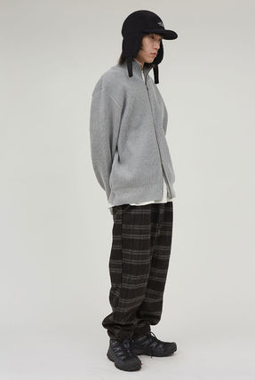 Raucohouse Printed Pants Other Plaid Patterns Unisex Wool Street Style