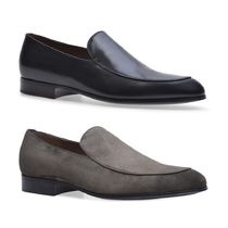Gianvito Rossi Loafers Suede Plain Leather Loafers & Slip-ons
