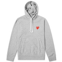 PLAY COMME des GARCONS Heart Street Style Long Sleeves Cotton Logo