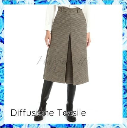 Diffusione Tessile Zigzag Casual Style Wool Office Style Formal Style  Culottes