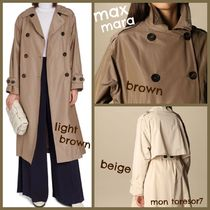 MaxMara Casual Style Plain Office Style Formal Style  Trench Coats