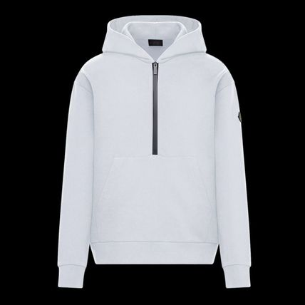 MONCLER Plain Cotton Logo Hoodies