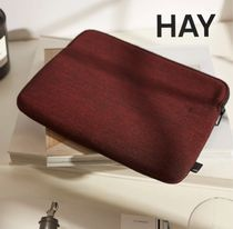 HAY Unisex Blended Fabrics Street Style Tech Accessories