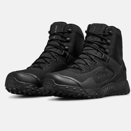 UNDER ARMOUR Plain Toe Mountain Boots Unisex Blended Fabrics Street Style