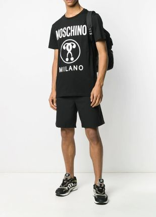 Moschino Crew Neck Cotton Short Sleeves Logo Crew Neck T-Shirts