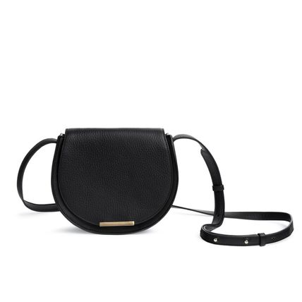 Plain Elegant Style Shoulder Bags