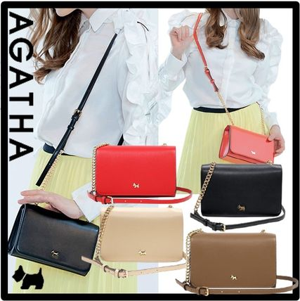Casual Style Street Style Formal Style  Logo Shoulder Bags