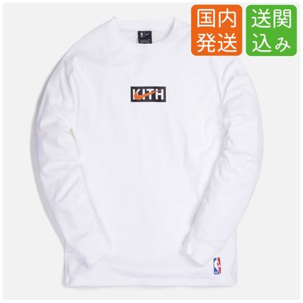 KITH NYC Long Sleeve Pullovers Street Style Collaboration Long Sleeves Cotton