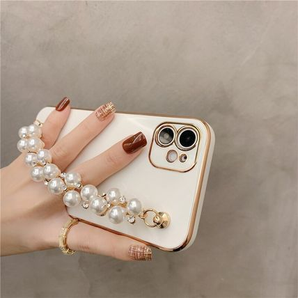 Chain Plain Silicon With Jewels iPhone 8 iPhone 8 Plus