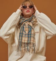 COMPAGNO Street Style Knit & Fur Scarves