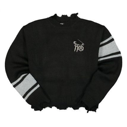 Pullovers Wool Street Style Collaboration Long Sleeves Plain