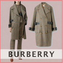 Burberry Tartan Other Plaid Patterns Office Style Oversized