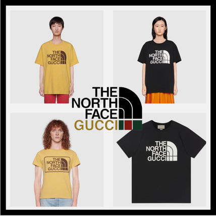 GUCCI More T-Shirts Unisex Collaboration Logo Luxury T-Shirts