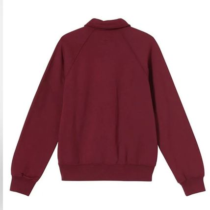 STUSSY Pullovers Sweat Street Style Long Sleeves Plain Cotton Logo