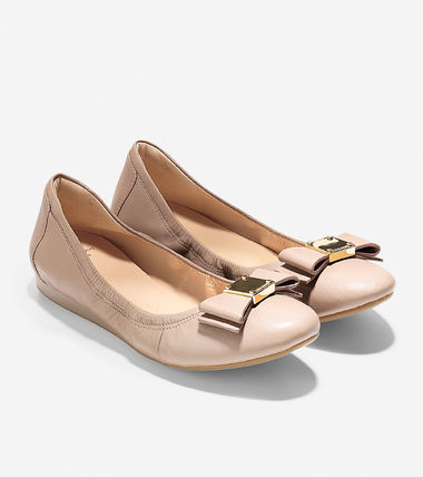 Cole Haan Casual Style Plain Leather Office Style Flats