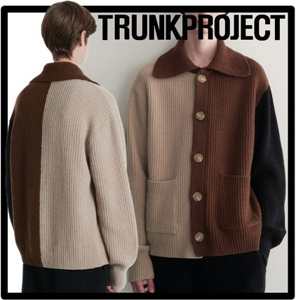 TRUNK PROJECT Casual Style Unisex Street Style V-neck & Crew neck
