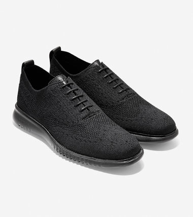 Cole Haan ZEROGRAND Blended Fabrics Plain Logo Oxfords