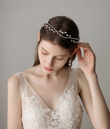Formal Style  Barettes Party Style Flower Tiaras With Jewels