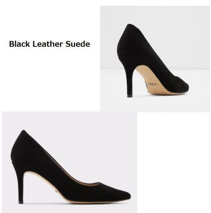 Casual Style Suede Plain Pin Heels Party Style Office Style