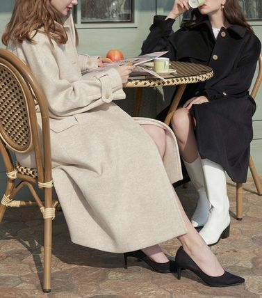 Casual Style Plain Formal Style  Coats