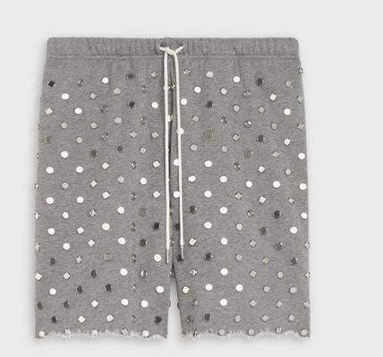 CELINE Jogging Shorts In Cotton With Mirror Studs