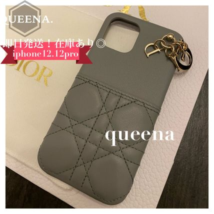 Christian Dior LADY DIOR Leather iPhone 11 Pro Smart Phone Cases