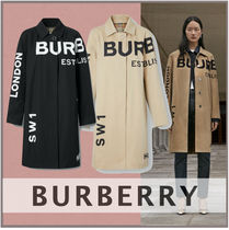 Burberry Tartan Other Plaid Patterns Long Office Style Oversized
