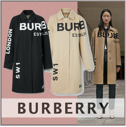 Burberry Formal Style  Logo Other Plaid Patterns Tartan Long