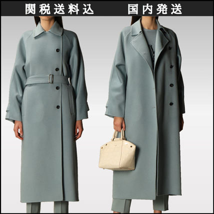 MaxMara Casual Style Wool Street Style Plain Long Party Style