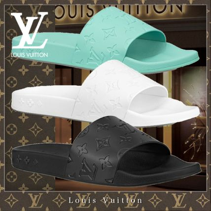 Louis Vuitton MONOGRAM Flipflop Unisex Street Style Shower Shoes Shower Sandals