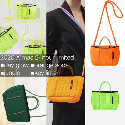 Casual Style Unisex Bag in Bag Plain Crossbody Neon Color