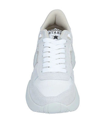 Round Toe Street Style Plain Logo Low-Top Sneakers