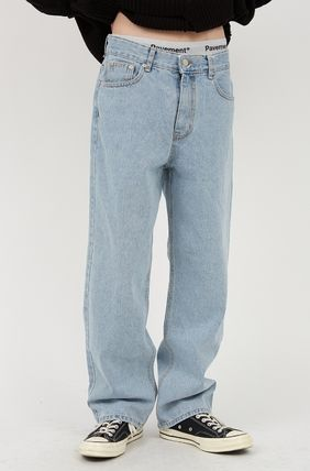 Raucohouse More Jeans Slax Pants Denim Street Style Collaboration Plain Jeans 2