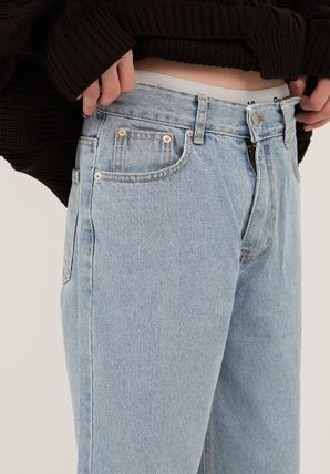 Raucohouse More Jeans Slax Pants Denim Street Style Collaboration Plain Jeans 3