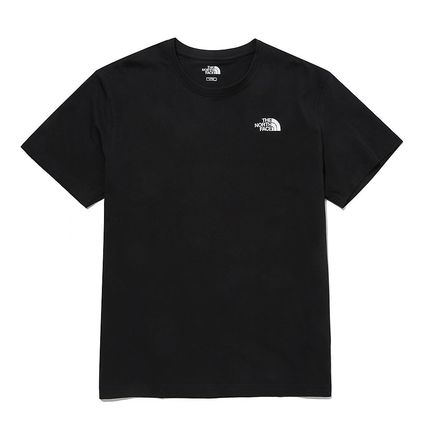 THE NORTH FACE Unisex Street Style Plain Cotton Short Sleeves Logo Outdoor