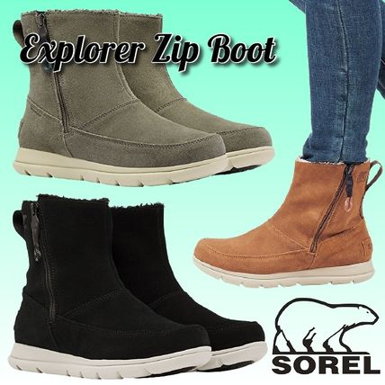 Mountain Boots Rubber Sole Casual Style Suede