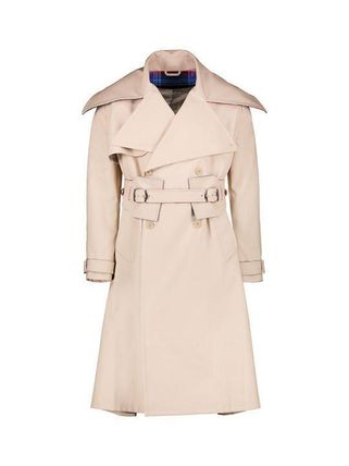 Casual Style Unisex Plain Office Style Trench Coats