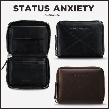 Unisex Plain Leather Folding Wallet Logo Folding Wallets